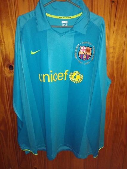 Camiseta De Barcelona Manga Larga 2007 De Ronaldinho