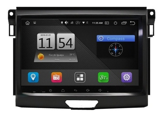 Central Multimídia M1 Android 8.1 Tv Full Hd Wifi Playstore Waze Ford Ranger Xls 2017 2018 2019
