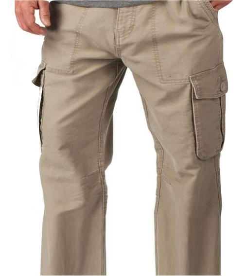 Pantalón Cargo Talle Especial Grande Gabardina Fina Náutico