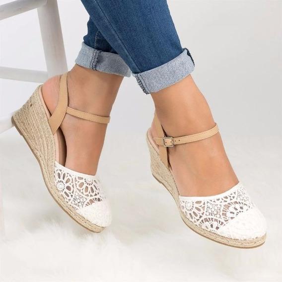 Sandalias De Cuña Para Mujer Zapatos De Tobillo Inferior Gr