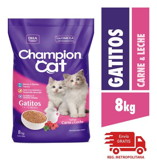 Alimento Para Gatos Champion Gatitos Carne Y Leche 8kg