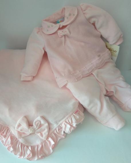 Saída De Maternidade Paraíso Bebê Menina 9093 Cód. Ml45