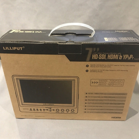 Monitor 7 Lcd Camera Hd Lilliput 665gl-70np/ho/y 7