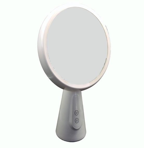 Espelho Para Maquiagem De Mesa Grande Portátil Luminária Led