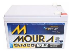 Bateria Moura Nobreak 12ah Vrla 12mva-12 Scooter Bicicle