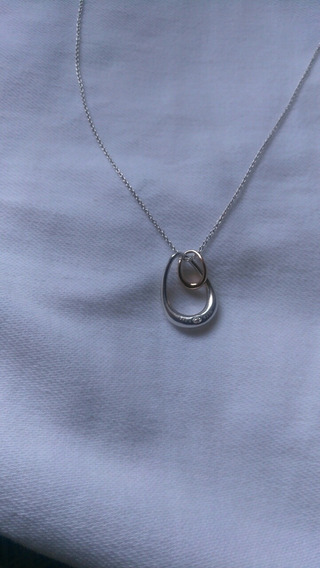 Collar George Jensen-collar Offspring-mujer Plata De Ley/oro