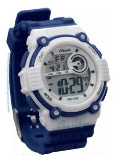 Reloj Sumergible 50mt Niño Niña Dama Alarma Crono Luz Aiwa
