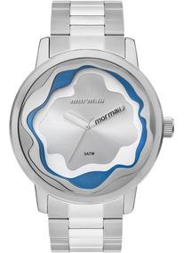Relógio Mormaii Feminino Maui Prata Azul Branco Mo2035ix/4k