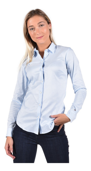 Camisa Fitted Tommy Hilfiger Azul 1m87647510-893 Mujer