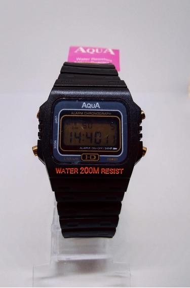 Relógio Unissex Aqua Wr200-m Preto