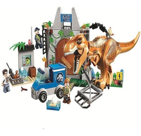 Dinossauro Bloco De Montar Compativel Lego Fuga T-rex