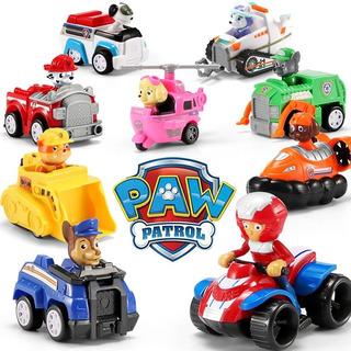Set 9 Personajes De Paw Patrol Juguete Completo