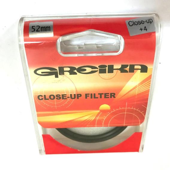 Filtro Close Up 52mm +4 Greika Close Up Fotografia Macro