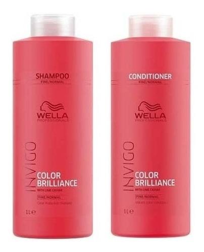 Wella Invigo Brilliance Kit Shampoo + Condicionador 1000 Ml