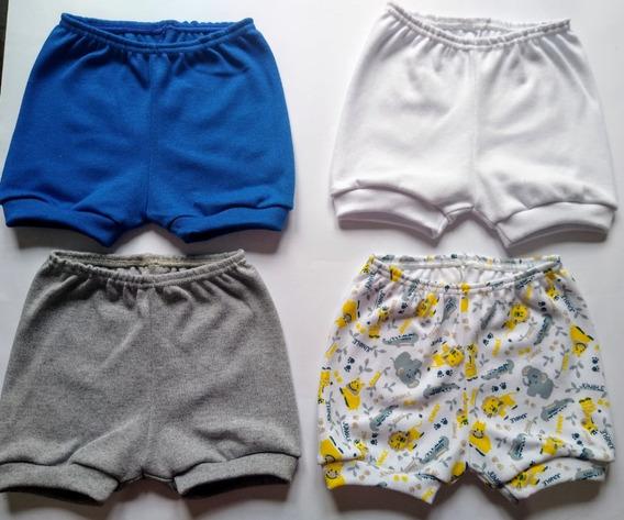 Kit C/ 10 Shorts De Bebê - 100% Algodão
