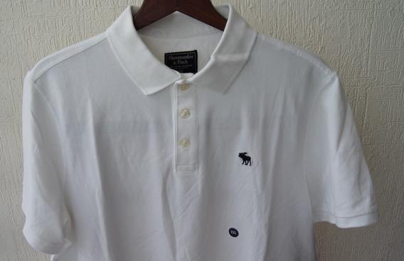 Abercrombie & Fitch Playera Polo Talla Xxl Color Blanco