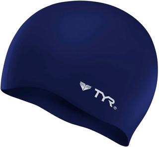 Gorra De Baño Tyr Wrinkle-free Silicone Swim Cap Azul Marino