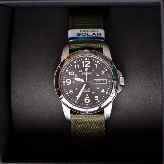 Relógio Masculino Seiko Solar Militar Sne095 Sne095p2 Pronta Entrega!