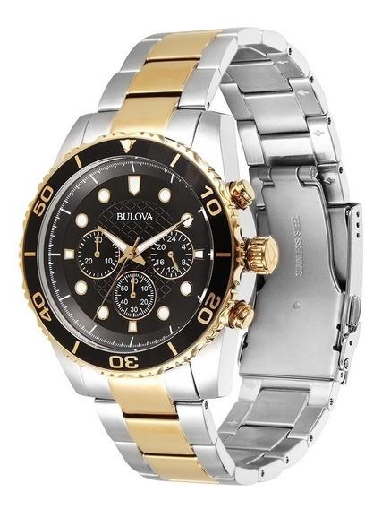 Relógio Bulova Masculino Cronógrafo Dourado Wb31989p