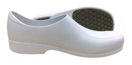 Sapato Antiderrapante Sticky Shoes Masculino Branco Cozinha