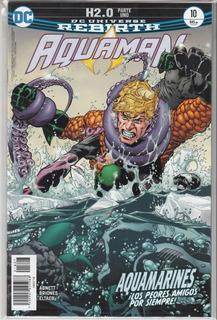 Comic Dc Universe Rebirth Aquaman 10 H2.0 Español