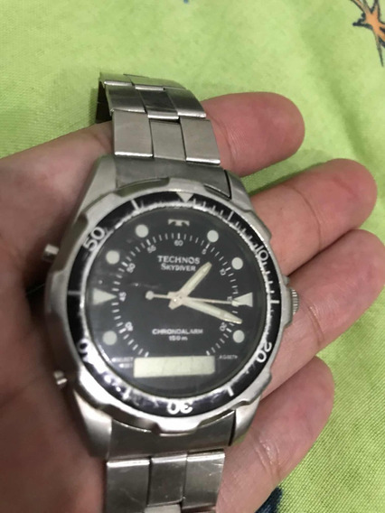 Relógio Masculino Technos Skydiver Anos 1980 (frete 0800)