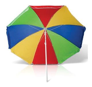 Sombrilla Playera Parasol Playa De Colores Tio Musa