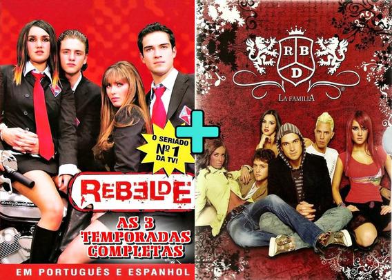 Rebelde 1ª A 3ª Temporadas + Rbd La Familia + Shows 34 Dvds