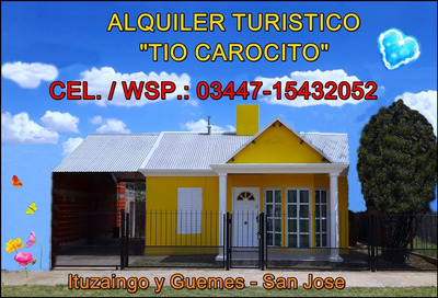 Alquiler, Casa,turismo, Bungalow
