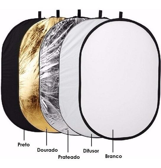 Rebatedor Refletor Oval Fotográfico E Difusor 5x1 120x180cm
