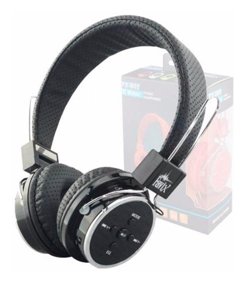 Fone De Ouvido Head Phone Bluetooth Micro Sd Fm Auxiliar P2