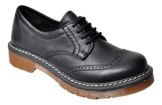 Zapato Clásico Mujer Savage Doc7 Livianos De Vestir Cordones