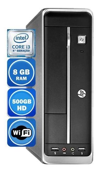 Pc Hp 402 Intel I3 4°geração 8gb Hd 500gb Wi-fi