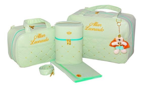 Bolsa Bebe Luxo 4p Realeza Personalizada Gaby Mundo Infantil