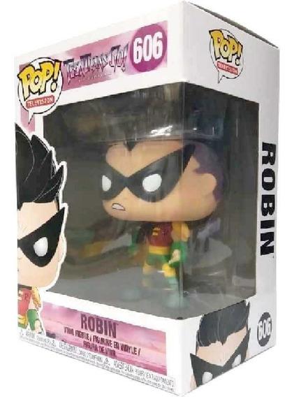 Funko Pop Teen Titans Go! Robin Os Jovens Titãs Em Ação 606