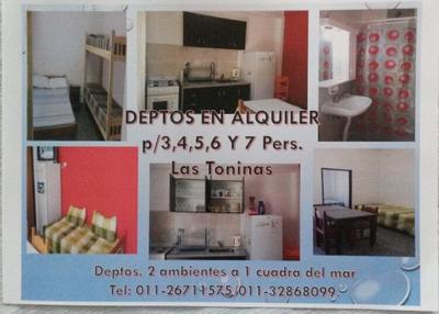 Departamentos En Alquiler, Las Toninas.