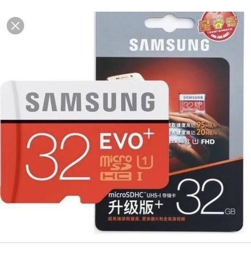 Cartão Micro Sd 32 Gb 95 Mb/s Fhd Sansung Evo Plus Original