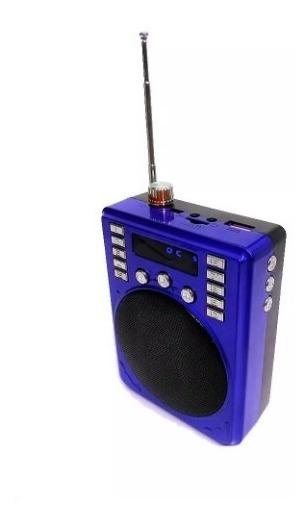 Megafono Mini Bocina Portatil Bluetooth Usb Radio Micro Sd /e