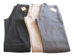 Calça Masculina Sarja Tipo Cotele Bolso Faca Plus [48 A 56]