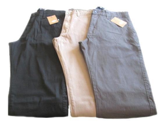 Calça Masculina De Sarja Tipo Cotele Com Bolso Faca - Frete Grátis - [48 A 56]