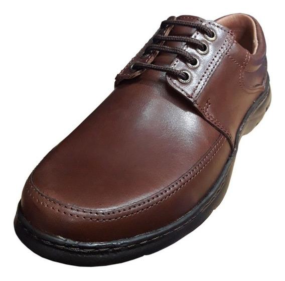 Zapato Vestir Marron Cuero Free Confort Xl Ultralivian 46-50