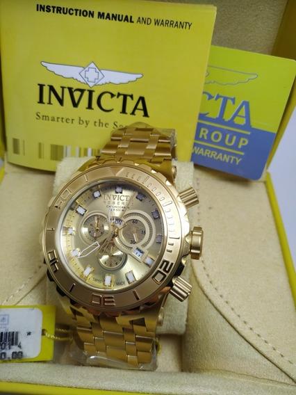 Invicta Reserve Subaqua 6901 Ouro 18k Original
