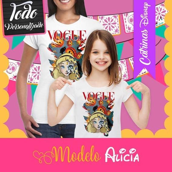 Playera Catrina Princesa Disney Alicia