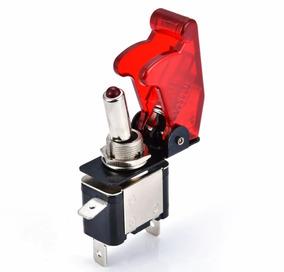 Chave Botão Caça Tic/tac Com Led Vermelho