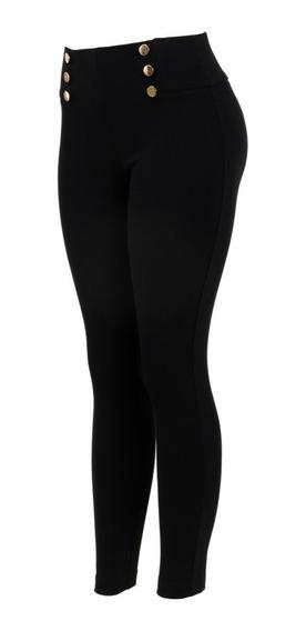 Pantalon De Vestir Entallado Tela Gruesa Tiro Medio Marinero