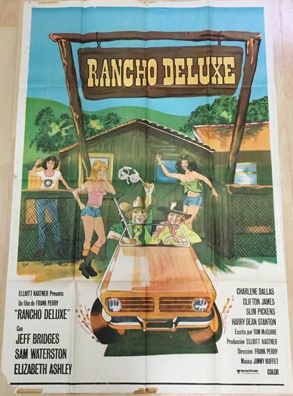 Afiche Poster Original Cine Rancho Deluxe 1975, Frank Perry
