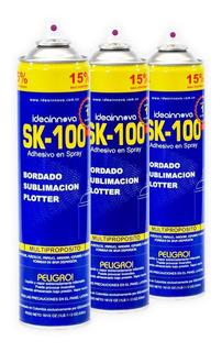 (combo 3 Latas) Adhesivo/ Pegante En Spray/aerosol Sk-100