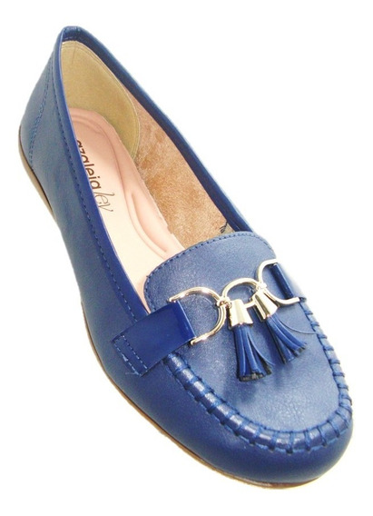 Sapato Feminino Mocassim Azaleia - Azul Naval 833/239