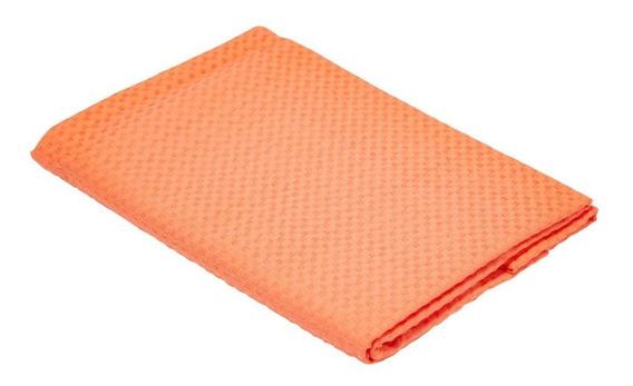 Porta Travesseiro Teka Laranja Liso Tecido Piquet (50x70cm)