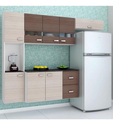 Cozinha Compacta Julia Composta Por 4 Peças Com 2 Gavetas 8